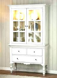 white china hutch cabinet with glass doors cabinets oak off black and corner kitchen full size