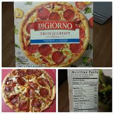 digiorno thin crispy pepperoni and peppers pizza