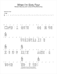I M Yours Ukulele Strumming Pattern Adorable When I'm SixtyFour Sheet Music By The Beatles Ukulele With
