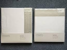 white company genoa bed linen set king size