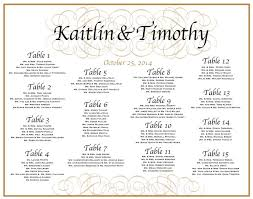 Sample Seating Charts For Rehearsal Dinner 7 Free Wedding Seating