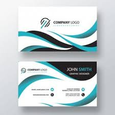 Blue And White Business Card Psd File Free Download Infor Pic