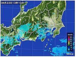 雨雲 レーダー 東京