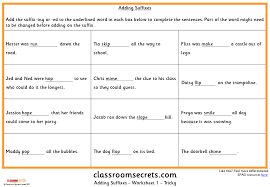 Adding Suffixes KS1 SPAG Test Practice | Classroom Secrets
