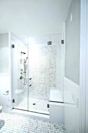walk in showers with seat built shower seats perfect images benches regarding designs home depot seating