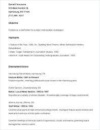 Sample Journalism Resume News Reporter Resume Samples Sample Resume