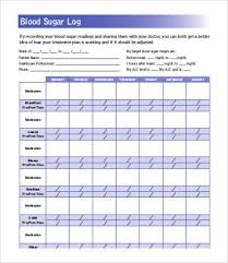 blood glucose log sheets blood sugar log 7 free word excel pdf documents download free