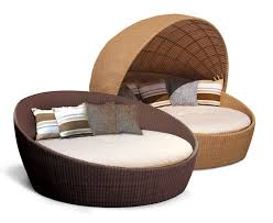 oyster rattan daybed round wicker daybed
