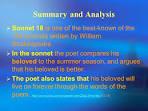 sonnet summary