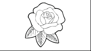 Coloring Pages Roses And Hearts Rose Wonderful Looking Draw A For