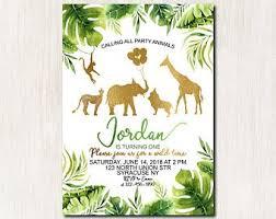 Safari Party Invitations Safari Invitation Etsy