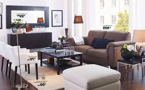 Ikea For Small Living Room Small Living Room Ideas Ikea Elegant White Paint Wall Decors Black
