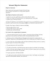 objective for job resume general resume objective sample 9 examples in job  objective resume call center