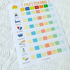 Kids Daily Routine Chart Printable Morning Routine Chart Morning Checklist Visual Routine Kids Daily Responsibilities Daily Routine Daily Task List Tracking