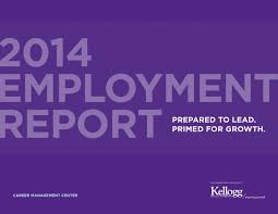 recruitment report kellogg school of management by kellogg 2014 employment report kellogg school of management