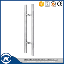 china stainless steel h type double side glass door pull handle china double side glass door pull handle pull door handle