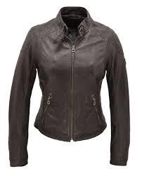 blouson cuir femme gris fonce 8249 style moto sport face
