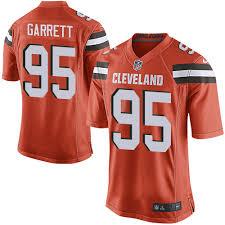 Browns Alternate Orange Jersey Cleveland Football Men's 95 Garrett Game Myles