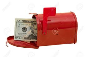 mailbox flag up. Modren Mailbox Red Mailbox With Cash In It And The Flag Up Sitting On A White Background  Stock And Mailbox Flag Up D