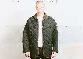 Khaki Green Parka Jacket . Vintage 80s Mens Quilted Jacket & Like this item? Adamdwight.com