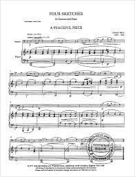 bassoon sheet music four sketches for bassoon and piano from gordon jacob buy now in