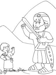 David And Goliath Coloring Sheet For Preschoolers Pages King Page