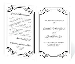 Microsoft Wedding Program Templates Program Template Microsoft Word Wedding Program Template Instant
