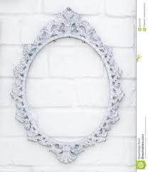 white antique picture frames. Vintage Picture Frame On White Brick Wall Antique Frames :