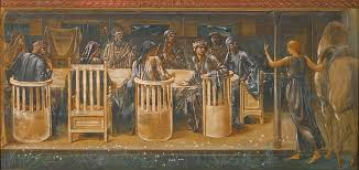 file edward burne jones the knights of the round table summoned to the quest by a strange damsel the summons jpg