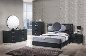 Global Bedroom Furniture Global Furniture Dolce Dark Grey Queen Bedroom Set