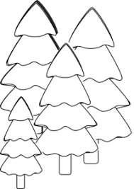 Simple Bare Tree Template Family Free Outline Clip Art Cut Christmas Tree Outline Clip Art