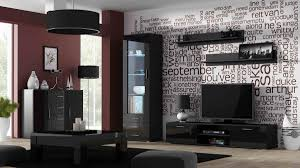 Black Gloss Living Room Furniture Modern House - Black furniture living room
