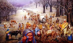 "trail of tears from a middle school student s perspective  ""the trail of tears "" historical oil painting by max d standley"