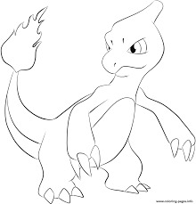 Small Picture Print 005 charmeleon pokemon coloring pages Pokemon Pinterest