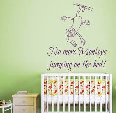 wall decals e no more monkeys jumping on the bed art mural girl et