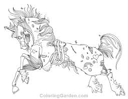 Small Picture Free printable zombie unicorn adult coloring page Download it in