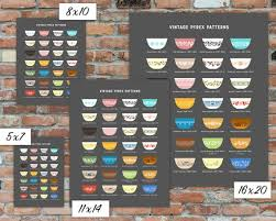Pyrex Color Chart Vintage Pyrex Patterns Chart