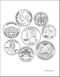 Small Picture Coin clipart coloring page Pencil and in color coin clipart