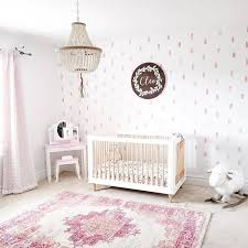 girl nursery wall