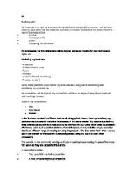 an example of a business plan my business is to start up a online  page 1 zoom in