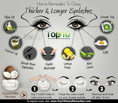 here are a few home remes for thicker eyelashes