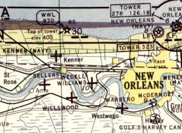 New Orleans Sectional Chart Abandoned Little Known Airfields Louisiana Western New