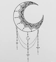 Moon Mandala Design By Me Mandala Moon With Pen On Paper Moon Mandala