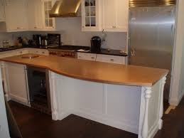 white traditional kitchen copper. Curved Copper Countertop For Kitchen Island White Traditional C