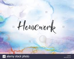 homework word the word homework concept and theme written in black ink on