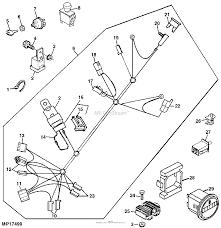 John deere parts diagrams john deere hd45 hd75 hydrostatic mercial walk behind mowers 54 in deck pc2627 wiring harness engine 17 hp kawasaki