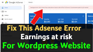 how to fix adsense earning at risk ads txt