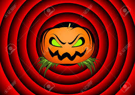 Movie Pumpkin Designs Halloween Card With Pumpkin And Movie Ending Background
