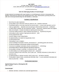 free cosmetologist resume sample resume for cosmetologist