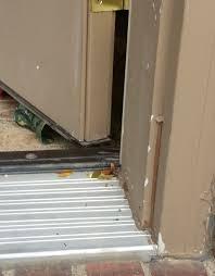 front door thresholdFront Door Threshold Adjusted Now Leaking  Windows and Doors